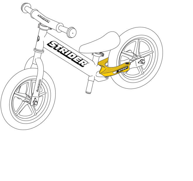illustration Strider 12 Sport balance bike footrests