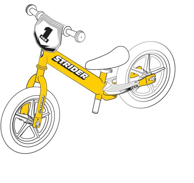 illustration Strider 12 Pro frame